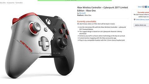Xbox One: pad z motywem Cyberpunk 2077 chce być aż za bardzo punkowy