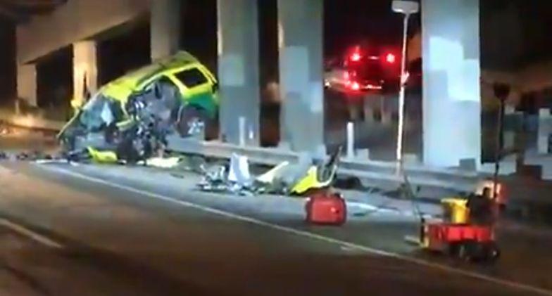 Auto pod prąd na autostradzie. 4 osoby nie żyją