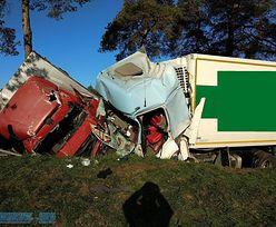 Ciężarówki zderzyły się czołowo. Są ranni