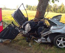 Kołtki. 15-latek zginął za kierownicą samochodu. Uderzył w drzewo
