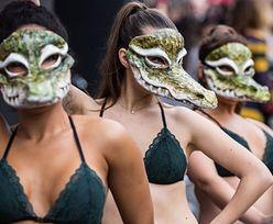 Demonstracje podczas Londyńskiego Tygodnia Mody