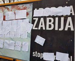 Licealiści zakleili zdjęcia martwych płodów. Sprawa zgłoszona na policję