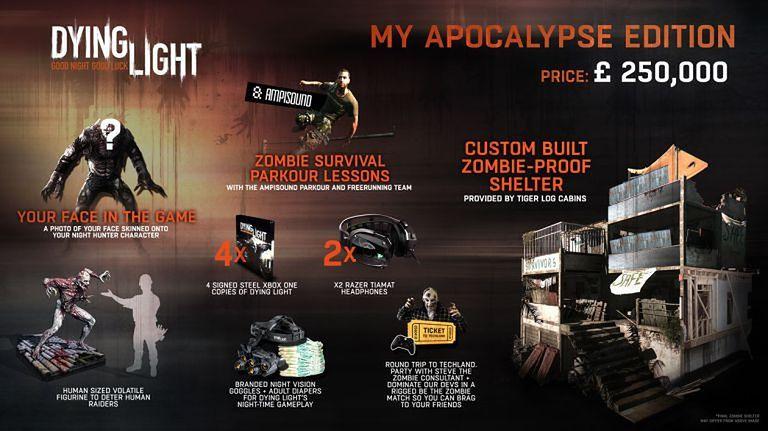 Prawdziwa edycja kolekcjonerska Dying Light kosztuje 1,4 miliona złotych. Zawiera lekcje parkouru, noktowizor, pieluchy i... dom