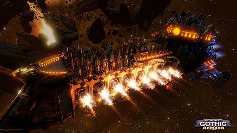 Battlefleet Gothic: Armada wygląda świetnie ze swoimi ośmiokilometrowymi statkami sunącymi przez kosmos
