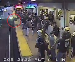 Metro już jechało. Przerażającą scenę nagrał monitoring