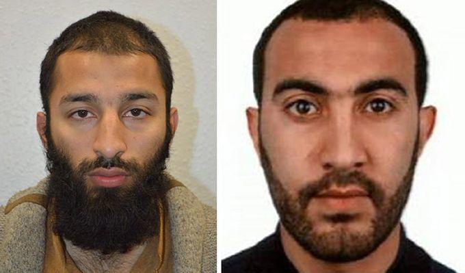Khuram Butt (po lewej) i Rachid Redouane; zdjęcie udostępnione przez policję z Londynu