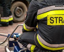 Wieluń: pożar w Wieltonie. 13 jednostek straży walczy z żywiołem