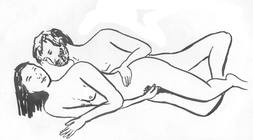 Seks w pozycji na łyżeczkę