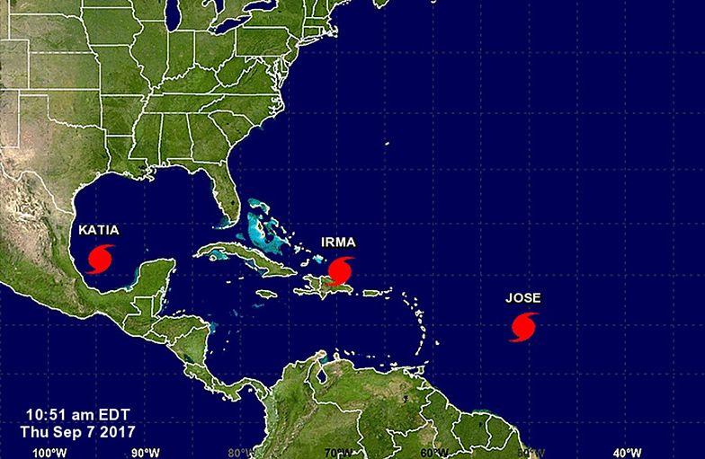 Z prognoz wynika, że huragan Irma dotrze nad Florydę w sobotę.