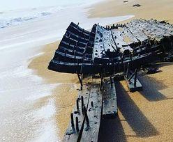 Mama wybrała się z synem na spacer po plaży. Znaleźli 200-letni wrak statku
