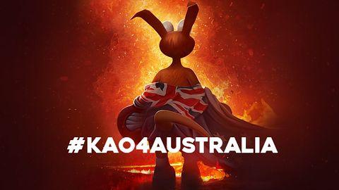 Kangurek Kao w walce z płonącymi lasami Australii