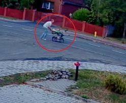 Wielkopolskie. Wózek z dzieckiem pędził po ulicy. Strażak rzucił się na ratunek