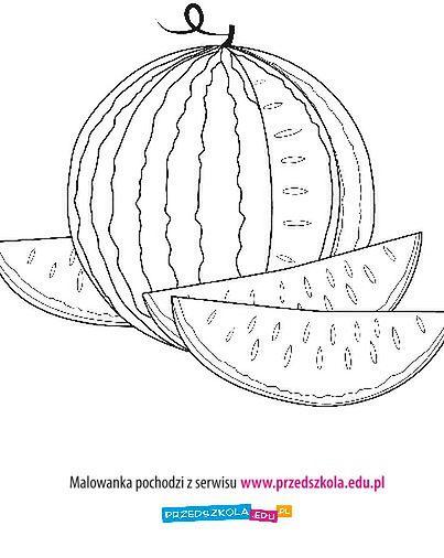 Arbuz - kolorowanka