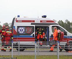 Ranne dzieci w wypadku busa pod Nowym Sączem