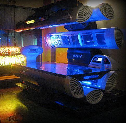 Sesja w solarium - kabina