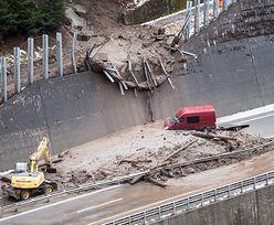 Lawina błota zablokowała autostradę w Szwajcarii