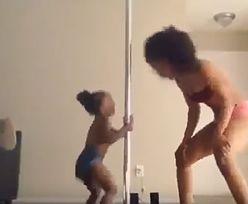 Wideo matki i córki tańczących na rurze wywołało burzę w internecie