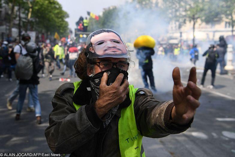 Policja użyła wobec protestujących w Paryżu gazu łzawiącego
