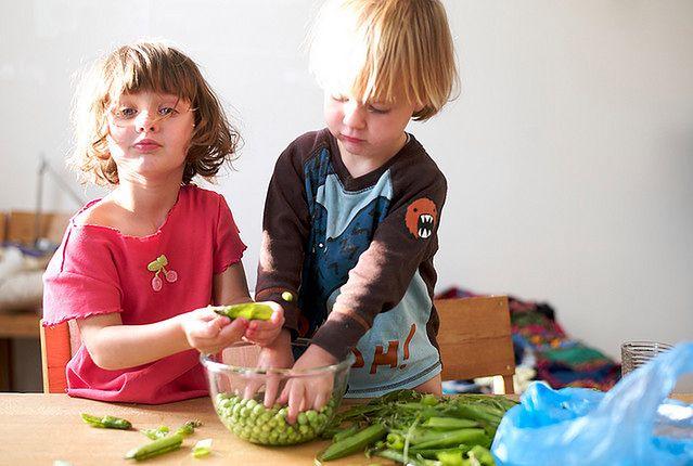 Jedzenie warzyw poprzez zabawę