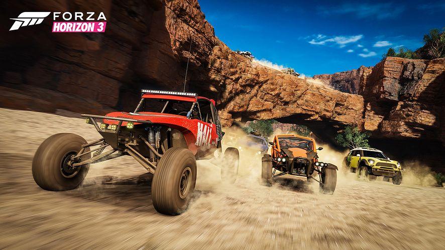 Jeszcze nikt nie pokazał tak dramatycznie stadka kangurów. Nowy MotorStorm nadchodzi, Forza Horizon 3 mu na imię