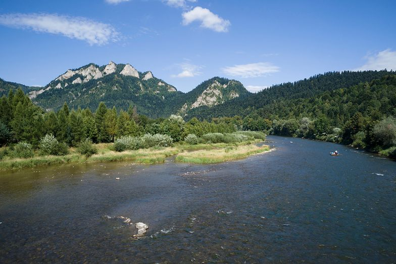Three Crowns Peak in Pieniny Mountains and Dunajec River
