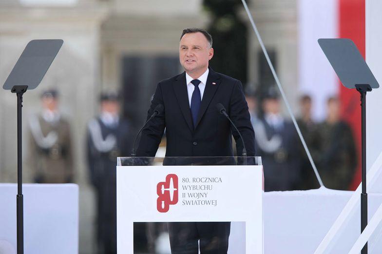 Warszawa. Wystąpienie prezydenta Andrzeja Dudy