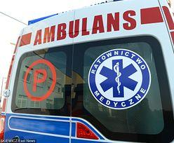 Kobieta groziła ratownikom medycznym siekierą. Usłyszała zarzuty