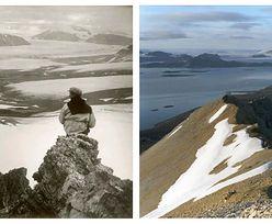 Te zdjęcia nie pozostawiają złudzeń. Tak zmienił się lodowiec na przestrzeni 100 lat