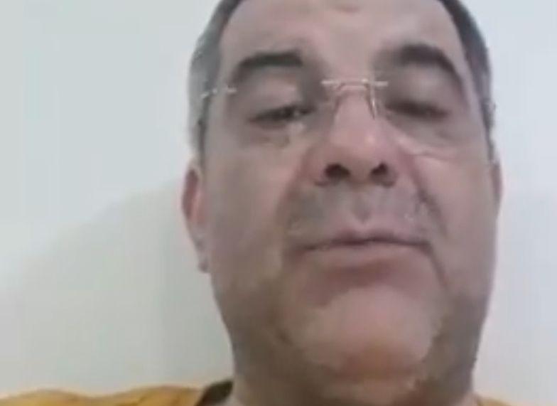 Fragment filmu, w którym Iraj Harirchi mówił o swoim zarażeniu wirusem.