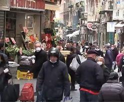 Koronawirus. Tłumy na ulicach Neapolu. Ignorują zalecenia