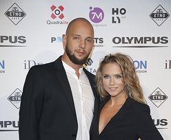 Seksowna i odchudzona Agnieszka Kaczorowska z mężem