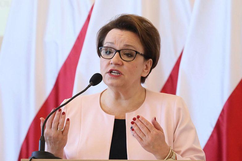 Anna Zalewska jest zadowolona z reformy edukacji