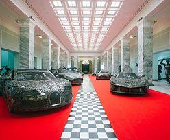 Wystawa modeli samochodów zbudowanych ze złomu. Niezwykłe rzeźby wymyślone przez Polaka