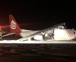Samolot Lockheed C-130A rozbił się na lotnisku