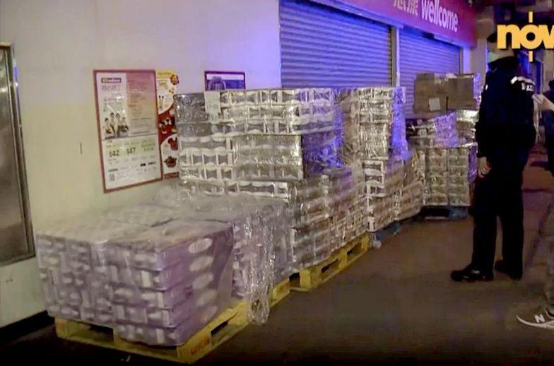 Papier toaletowy skradziony w Hongkongu.
