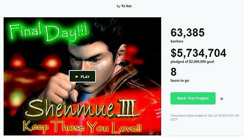 Shenmue III największym kickstarterowym hitem w historii. Zbiórka kończy się za 9 godzin