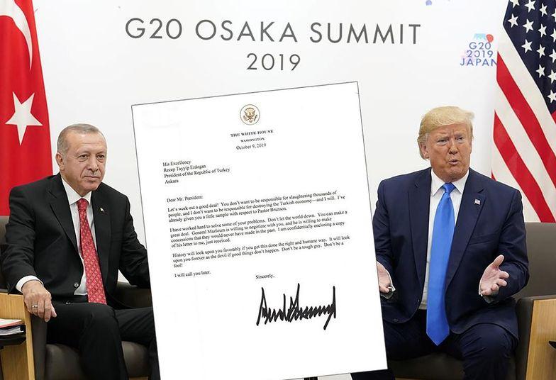 Donald Trump grozi prezydentowi Turcji w liście. Jego treść właśnie wyciekła do sieci.