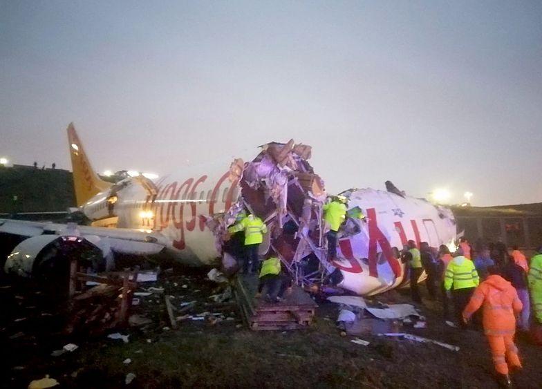 Katastrofa samolotu w Turcji. Złamał się na pół