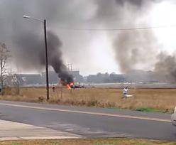 USA: Katastrofa dwusilnikowego samolotu w Lafayette. Maszyna spadła na parking