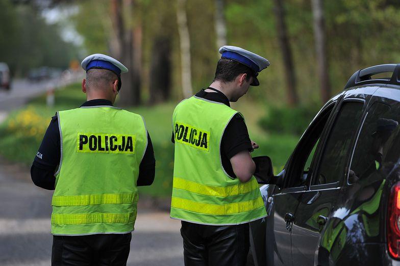 Policyjna kontrola kierowcy