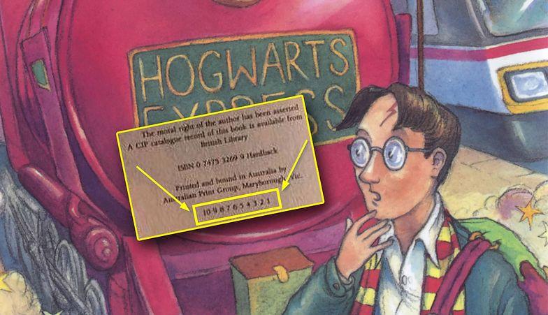Zajrzyj do stopki wydawniczej swojego wydania Harry'ego Pottera. Może też masz białego kruka?