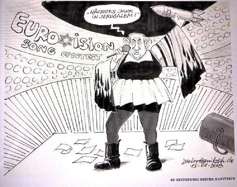 Niemcy wyrzucili rysownika z gazety. Za karykaturę premiera Izraela