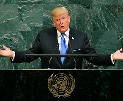 """Donald Trump mówi o """"całkowitym zniszczeniu"""" Korei Północnej. I chwali Polskę"""
