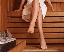 Zobaczył w saunie nagą kobietę. Wezwał policję
