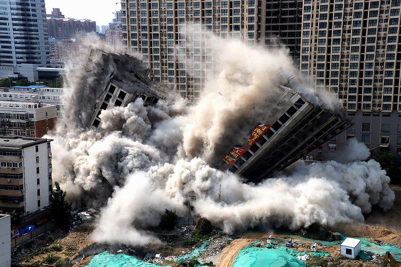 Zniknęły w 15 sekund. Wieżowce przeszkadzały chińskim władzom