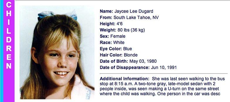 Porwanie Jaycee Lee Dugard. Żyła w niewoli 18 lat