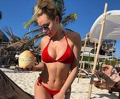 Ola Ciupa w czerwonym bikini. Zobaczcie, jak bawi się w Meksyku