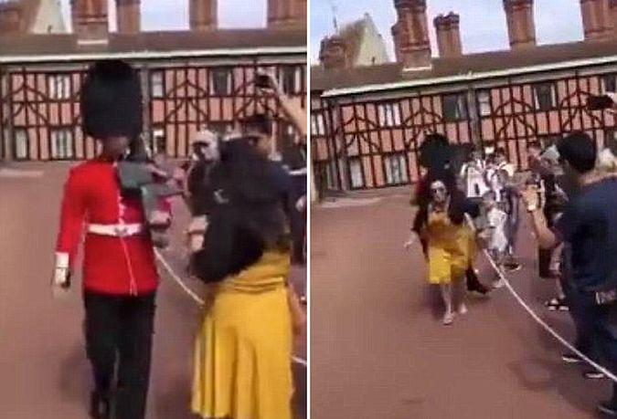 Brytyjska Gwardia Królewska się nie patyczkuje. Brutalnie przekonała się o tym turystka