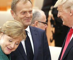 Merkel nie wyłączyła mikrofonu. O tym rozmawiała z Tuskiem i Trumpem