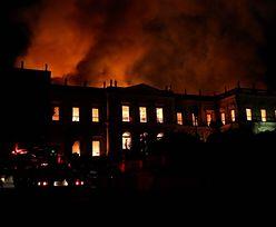 Wielki pożar brazylijskiego Muzeum Narodowego. Spłonęły bezcenne eksponaty